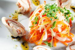 Fish Roll with Vegetables Stock Photos