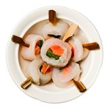 Fish rolls. Rolls from various fishes on a plate Royalty Free Stock Photos