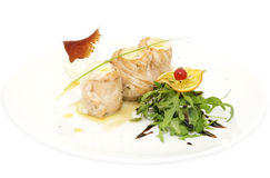 Fish rolls with herbs Royalty Free Stock Photos