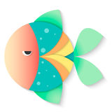 Fish round. Fish colored round  isolated vector Royalty Free Stock Photos