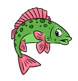 Fish ruff cartoon illustration Royalty Free Stock Photos