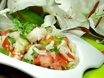 Fish salad Royalty Free Stock Photo