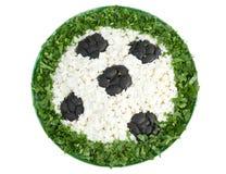 Fish salad as a football Royalty Free Stock Image
