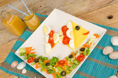 Fish salad Stock Photos
