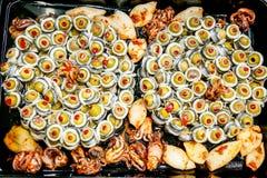 Fish salad Stock Image