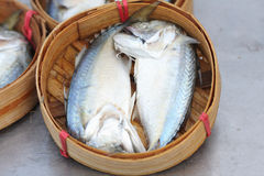 Fish for sale in a basket Royalty Free Stock Photos