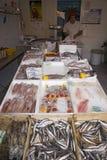 Fish for sale in Santa Margarita, the Italian Riviera, on the Mediterranean Sea, Italy, Europe Stock Image