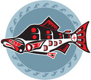 Fish - Salmon - In Natine American Style. Including Vector Format Royalty Free Stock Images