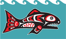 Fish - Salmon - Native American Style Royalty Free Stock Photo