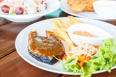 Fish salmon steak Royalty Free Stock Photography