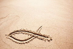 Fish Sand Symbol Royalty Free Stock Photo