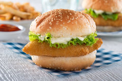 Fish Sandwich. A delicious crispy homemade fish sandwich Stock Photography