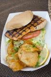 Fish Sandwich Royalty Free Stock Photo