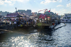 Fish sandwich Istanbul royalty free stock photos