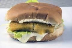 Fish sandwich Royalty Free Stock Photography