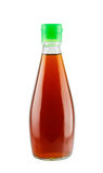 Fish sauce in glass bottle Stock Photography