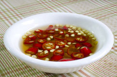 Fish Sauce Thailand in a white cup Stock Photo