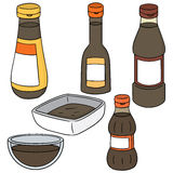 Fish sauce. Vector set of fish sauce Stock Photo