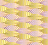 Fish scale abstract geometric seamless pattern. Royalty Free Stock Photos
