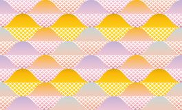 Fish scale abstract geometric seamless pattern. Royalty Free Stock Photography