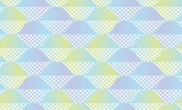 Fish scale abstract geometric seamless pattern. Pastel color decorative repeatable background. Stock vector illustration for fabric, wrapping paper, package stock illustration