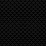 Fish scale. Black Neutral Seamless Pattern for Modern Design in. Flat Style. Tileable Geometric Vector Background Stock Images