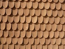 Fish Scale Design on Wall (Schachen Haus). Fish scale pattern on a house by Bavaria's last King, the eccentric Ludwig II (of Neuschwanstein fame). The house royalty free stock photography