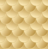 Fish scale golden seamless pattern. Vector background Stock Photos