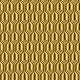 Fish scale golden seamless pattern. Vector background Stock Image