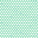 Fish scale green vector seamless pattern. Royalty Free Stock Images