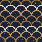 Fish scale japanase seamless pattern vector. Abstract seamless pattern. Japanese style, fish scale. Gold colors, splash on a black background. Vector design for Stock Photography