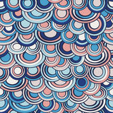 Fish scale made of circles seamless pattern, abstract background in soft trendy colors.Marine sea decoration Stock Image