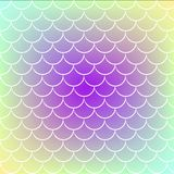 Fish scale and mermaid background stock illustration