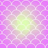 Fish scale and mermaid background. Mermaid tail on trendy gradient background. Square backdrop with mermaid tail ornament. Bright color transitions. Fish scale Stock Images