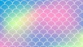 Fish scale and mermaid background. Mermaid tale on trendy gradient background. Horizontal backdrop with mermaid tale ornament. Bright color transitions. Fish Royalty Free Stock Photo