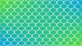 Fish scale and mermaid background. Fish skin on trendy gradient background. Horizontal backdrop with fish skin ornament. Bright color transitions. Mermaid tail Stock Image