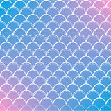 Fish scale and mermaid background. Fish skin on trendy gradient background. Square backdrop with fish skin ornament. Bright color transitions. Mermaid tail Royalty Free Stock Photos