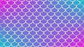 Fish scale and mermaid background. Squama on trendy gradient background. Horizontal backdrop with squama ornament. Bright color transitions. Mermaid tail banner Royalty Free Stock Photography