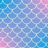 Fish scale and mermaid background. Squama on trendy gradient background. Square backdrop with squama ornament. Bright color transitions. Mermaid tail banner and Royalty Free Stock Photography