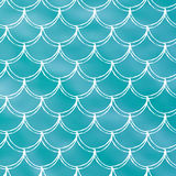 Fish scale and mermaid background Stock Photo
