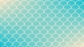 Fish scale and mermaid background. Fish scale on trendy gradient background. Horizontal backdrop with fish scale ornament. Bright color transitions. Mermaid tail Royalty Free Stock Photos
