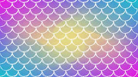 Fish scale and mermaid background. Fish scale on trendy gradient background. Horizontal backdrop with fish scale ornament. Bright color transitions. Mermaid tail Stock Images