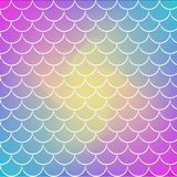 Fish scale and mermaid background. Fish scale on trendy gradient background. Square backdrop with fish scale ornament. Bright color transitions. Mermaid tail Royalty Free Stock Image