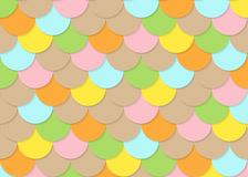Fish scale pattern, abstract stock vector, color texture, bright colour,. Abstract colour background, illustration background Stock Image