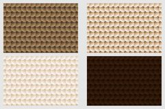 Simple circular background. Fish scale pattern, Simple circular background - brown set - vector circle pattern Royalty Free Stock Image