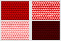 Simple circular background. Fish scale pattern, Simple circular background - red set - vector circle pattern Royalty Free Stock Photography