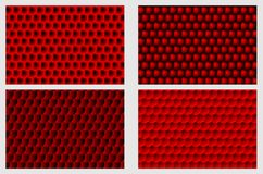 Simple circular background. Fish scale pattern, Simple circular background - red set - vector circle pattern Stock Photo