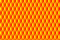 Simple circular background. Fish scale pattern, Simple circular background - red and yellow - vector circle pattern, Egg abstract vector pattern Royalty Free Stock Photography