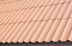 Fish scale roof tile Stock Photography
