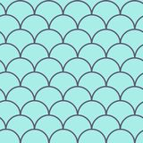 Fish scale seamless pattern. Reptile, dragon skin texture. Tillable background for your fabric, textile design, wrapping paper, swimwear or wallpaper. Blue Stock Photography